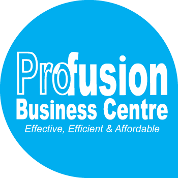 Profusion logo - sitting splendidly on the website.